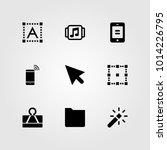 web design vector icon set.... | Shutterstock .eps vector #1014226795