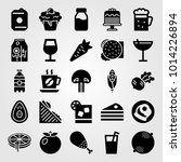 food and drinks vector icon set.... | Shutterstock .eps vector #1014226894
