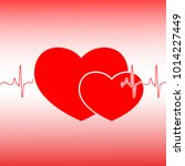 valentines day celebration card.... | Shutterstock . vector #1014227449