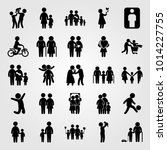 humans vector icon set. human ... | Shutterstock .eps vector #1014227755