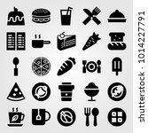 restaurant vector icon set....   Shutterstock .eps vector #1014227791