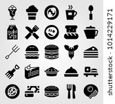 restaurant vector icon set.... | Shutterstock .eps vector #1014229171
