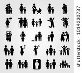 humans vector icon set. mother... | Shutterstock .eps vector #1014230737