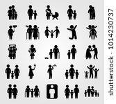 humans vector icon set. mother...   Shutterstock .eps vector #1014230737