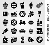 food and drinks vector icon set.... | Shutterstock .eps vector #1014230905