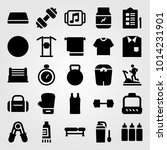fitness vector icon set.... | Shutterstock .eps vector #1014231901