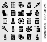 medical vector icon set.... | Shutterstock .eps vector #1014231991