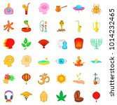 afterthought icons set. cartoon ... | Shutterstock .eps vector #1014232465