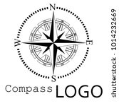 black and white compass logo.... | Shutterstock .eps vector #1014232669