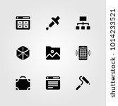 web design vector icon set.... | Shutterstock .eps vector #1014233521