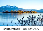 famous chiemsee lake in bavaria ... | Shutterstock . vector #1014242977