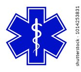 the star of life  with the... | Shutterstock . vector #1014253831