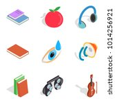 nerd icons set. isometric set... | Shutterstock .eps vector #1014256921