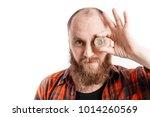 portrait of bold ginger bearded ...   Shutterstock . vector #1014260569