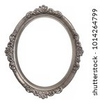 oval silver frame for paintings ... | Shutterstock . vector #1014264799