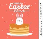 easter brunch illustration | Shutterstock .eps vector #1014273157