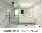 marble bathroom interior design | Shutterstock . vector #1014276361