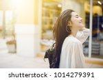summer sunny lifestyle fashion... | Shutterstock . vector #1014279391