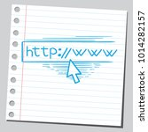 web browser with cursor on it | Shutterstock .eps vector #1014282157