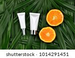 cosmetics skincare with vitamin ... | Shutterstock . vector #1014291451