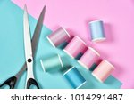 pastel  color background thread ... | Shutterstock . vector #1014291487