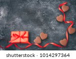 valentines day greeting card ... | Shutterstock . vector #1014297364
