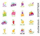 fruit juice logo set vector | Shutterstock .eps vector #1014297604
