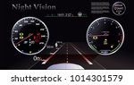night vision. car dashboard  ... | Shutterstock .eps vector #1014301579