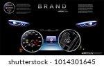 speedometer against the... | Shutterstock .eps vector #1014301645