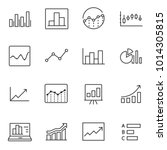 statistic icons set. linear... | Shutterstock .eps vector #1014305815