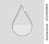 transparent drop isolated on a... | Shutterstock .eps vector #1014305845
