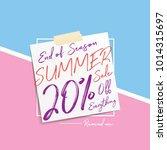 summer sale 20 percent heading... | Shutterstock .eps vector #1014315697