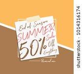 summer sale v6 50 percent...   Shutterstock .eps vector #1014316174