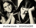 teenage problems   mother... | Shutterstock . vector #1014316285