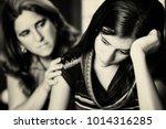 teenage problems   mother... | Shutterstock . vector #1014316285