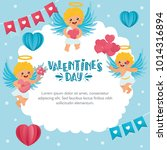 romantic greeting card. hand... | Shutterstock .eps vector #1014316894
