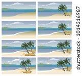 flat vector set tropical island ...   Shutterstock .eps vector #1014316987