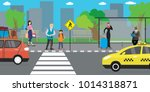 city street and road public... | Shutterstock .eps vector #1014318871