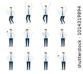 office business man character... | Shutterstock .eps vector #1014319894