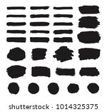 set of black grunge hand paint  ...   Shutterstock .eps vector #1014325375