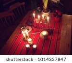 swedish christmas settings | Shutterstock . vector #1014327847
