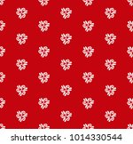 floral vector red and white... | Shutterstock .eps vector #1014330544