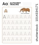 letter a alphabet tracing book... | Shutterstock .eps vector #1014334171