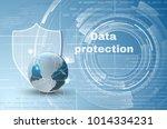 abstract background world data... | Shutterstock .eps vector #1014334231