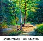 oil painting landscape  ...   Shutterstock . vector #1014335989