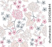 seamless floral pattern in folk ... | Shutterstock .eps vector #1014336844