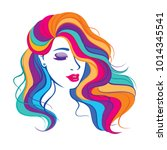 vector illustration with beauty ... | Shutterstock .eps vector #1014345541