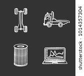auto workshop chalk icons set.... | Shutterstock .eps vector #1014357304