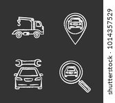auto workshop chalk icons set.... | Shutterstock .eps vector #1014357529