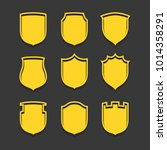 vector shield icon  flat design ...   Shutterstock .eps vector #1014358291